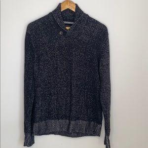 L.O.G.G. H&M mens grey blue sweater - large